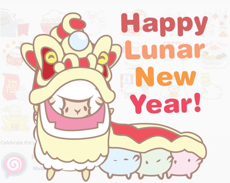 celebrate chinese new year with two new bbm sticker packs aivanet - Chinese New Year Emoji